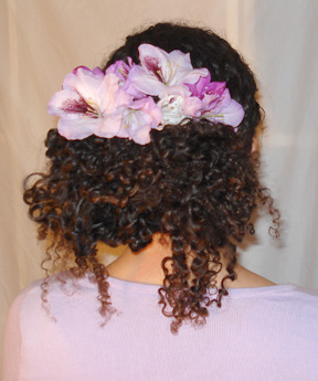 Hair in Flower Bun