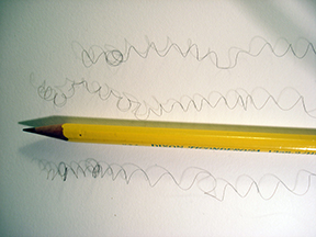 Hair with pencil