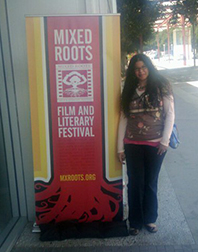 Teri at Mixed Roots Film and Literary Festival 2010