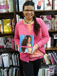 Teri with book in Barnes & Nobles